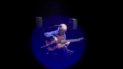 Serranito, durante su concierto del martes en los Teatros del Canal, en Madrid.