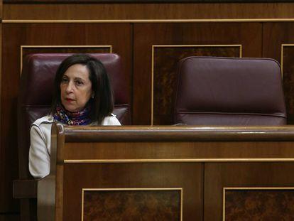Margarita Robles en el Pleno del Congreso de los Diputados.