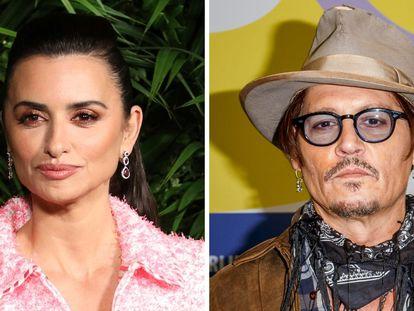 Penelope Cruz y Johnny Depp.
