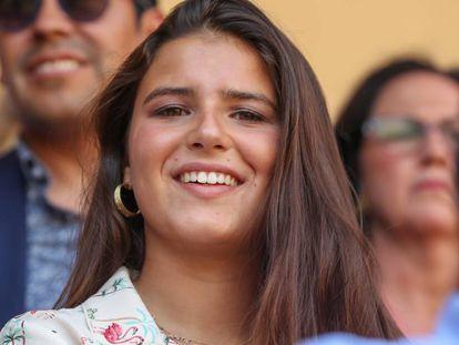 Cayetana Rivera Martinez de Irujo en una corrida de toros, en Ronda, el pasado 1 de septiembre.