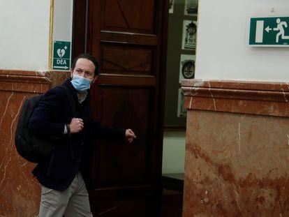 El líder de Podemos, Pablo Iglesias, esta semana en el Congreso.