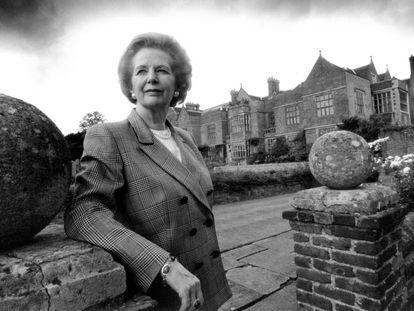 Margaret Thatcher, en Chequers en septiembre de 1993.