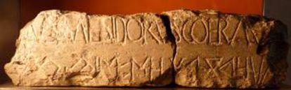 Arquitrabe de Sagunto, considerado la 'piedra Rosetta' del íbero.