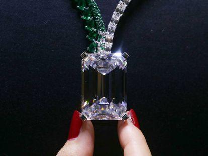 El diamante subastado por 28,8 millones de euros en una foto de archivo.
