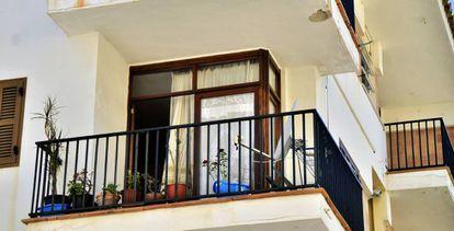 La vivienda donde una mujer ha muerto apuñalada en Pollença, Mallorca.