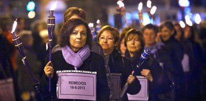 Una protesta contra la violencia de género en Valencia, en 2013.
