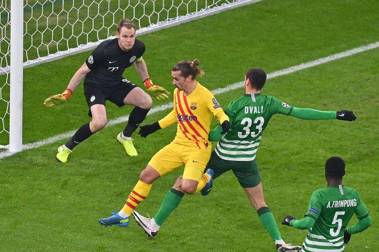 Griezmann marca el primer gol.