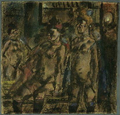 Obra de Georges Rouault (1871-1958), perteneciente al Museo de Bellas Artes de Dijon, que se expone en la muestra 'Pierre Matisse, un marchand d'art à New York'.