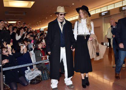 Johnny Depp y Amber Heard, en 2015.