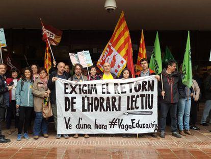 Sindicatos educativos en la presentación de la huelga del 16 de mayo.