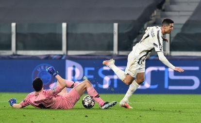 Cristiano Ronaldo, jugador de la Juventus, en el partido de Champions del mes pasado contra el Oporto.