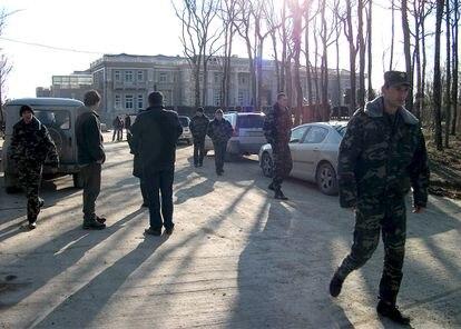 Agentes de seguridad y contratistas privados vigilaban la zona cuando el ambientalista Dmitri Shevchenko entró a inspeccionar el lugar en 2011.