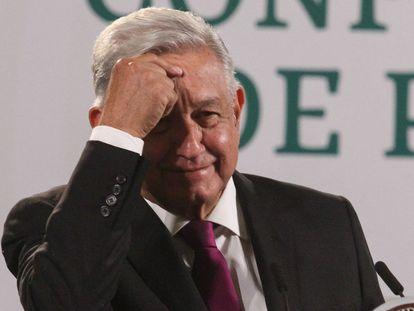 Andrés Manuel López Obrador durante la conferencia matutina de este viernes.