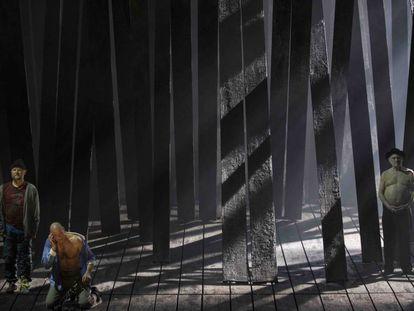 Una escena de 'Lear', de Aribert Reimann, con montaje de Calixto Bieito.
