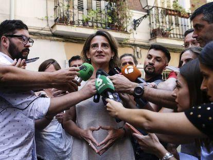 La ministra para la Transición Ecológica, Teresa Ribera, el lunes en Madrid.