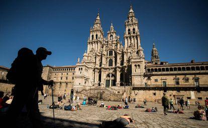 Vista de la plaza del Obradoiro de Santiago de Compostela.