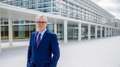 Pablo Isla, presidente de Inditex, en la sede de la compañía en Arteixo (A Coruña), el 26 de junio tras la entrevista.