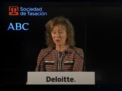 La subgobernadora del Banco de España, Margarita Delgado, en XXVII Encuentro del Sector Financiero EUROPA PRESS 18/11/2020