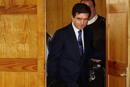 El ex presidente balear Jaume Matas, tras conocer la fianza solicitada por el fiscal.