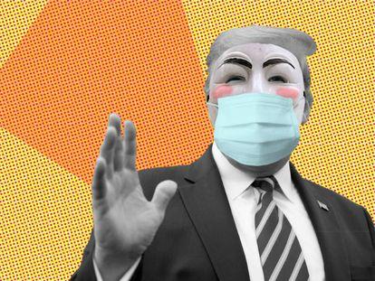 Tres máscaras en una: la del político, la del rebelde y la del ciudadano.