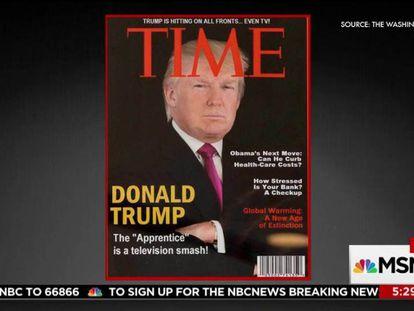 La portada falsa de TIME manufacturada por Trump.