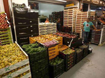 Mercado de la fruta y verdura de Mercamadrid.