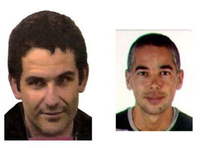 Los miembros de ETA Eneko Zarrabeitia (izqda.) y Aitor Artetxe, detenidos hoy en el sur de Francia.