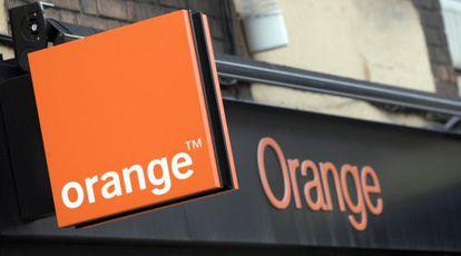Una tienda de Orange, en Madrid.