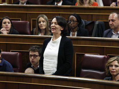 La diputada de Podemos Carolina Becansa promete acatar la Constitución durante su toma de posesión