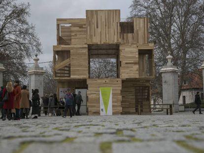 Pabellón Muliply, edificado para el Madrid Design Festival 2020 en Madrid Río