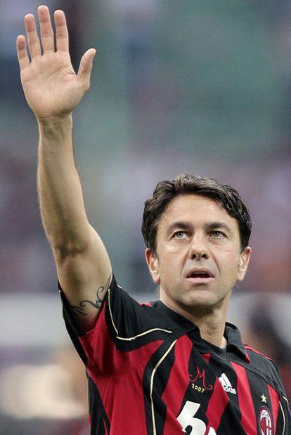 Costacurta, en 2007, en su último partido con el Milan.