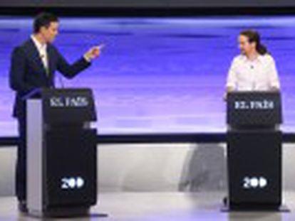 Sánchez, Rivera e Iglesias han intercambiado ataques, han confrontado sus propuestas y han discrepado sobre yihadismo, política territorial, economía y regeneración
