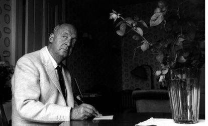 Nabokov, en 1965 en el Hotel Palace de Montreux (Suiza).