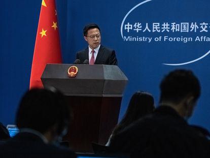 El portavoz del Ministerio de Asuntos Exteriores chino Zhao Lijian, en una foto de archivo