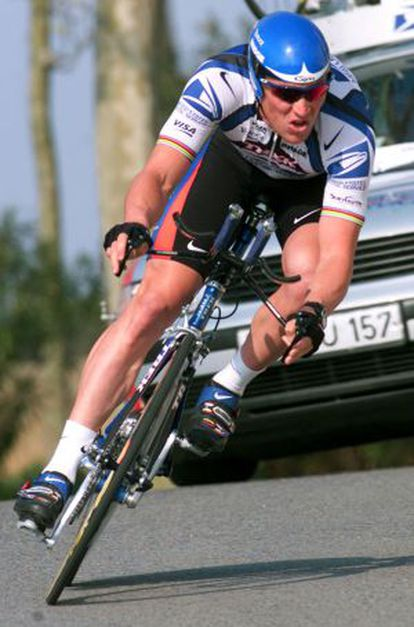 Lance Armstrong, en la Vuelta a Catalunya de 2000