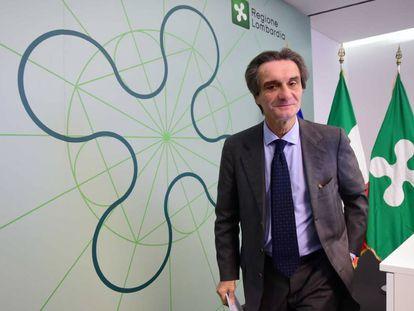 El Gobiernador de Lombardía, Attilio Fontana, en un foro en Milán, el 29 de noviembre de 2019.