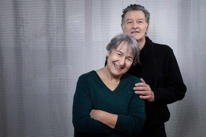 Anne Lacaton y Jean-Philippe Vassal hoy, 16 de marzo, en Montreuil, en el extrarradio de París.