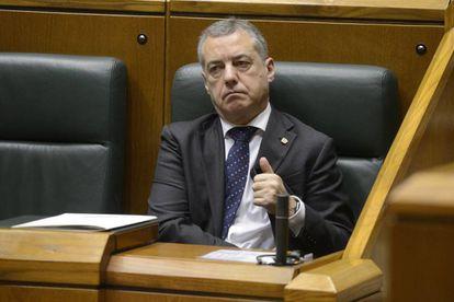 El lehendakari Íñigo Urkullu la semana pasada en el pleno del parlamento vasco.