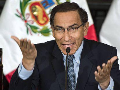 El presidente de Perú, Martín Vizcarra, este martes.
