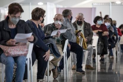 La Comunidad Valenciana, durante el proceso de vacunación masiva en la Ciudad de las Artes de Valencia.