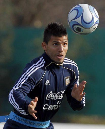 Agüero, con Argentina en la Copa América.