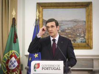 El primer ministro conservador luso, Pedro Passos Coelho. EFE/Archivo