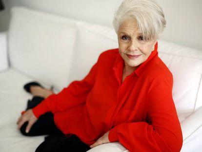 La actriz Lola Herrera, en su casa de Madrid.