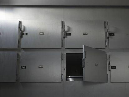 La morgue de un hospital.