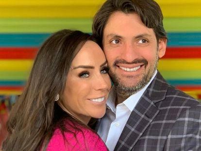La presentadora mexicana Inés Gómez Mont y su marido, el abogado Víctor Manuel Álvarez.