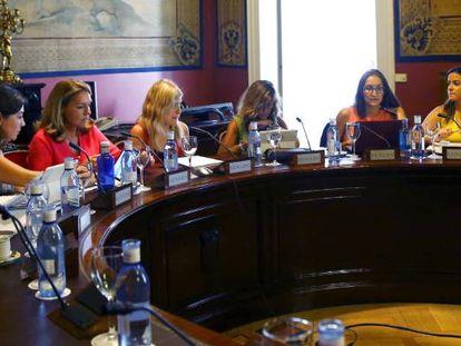 Un momento de la reunión de la subcomisión para el pacto de Estado contra la violencia de género.