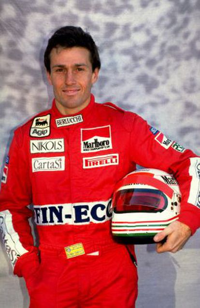 El piloto de fórmula 1, Andrea de Cesaris
