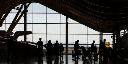 La terminal T 4 del Aeropuerto Madrid-Barajas en Madrid