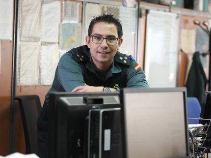 Alberto Redondo, capitán de la Guardia Civil encargado del departamento de ciber-delicuencia.