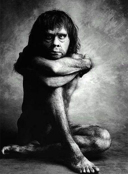 Recreación artística de un hombre de Neandertal realizada por el fotógrafo Graham Ford.